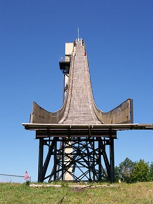 Copper Peak Ski Jump, from the bottom of the j...