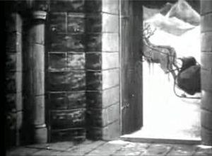 Santa's deers are waiting, in the 1905 film &q...