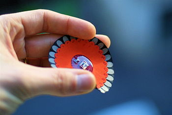 English: A flexible Lilypad Arduino, designed ...