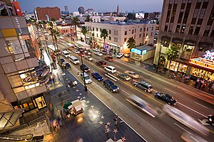 Hollywood Boulevard from the top of the Kodak ...