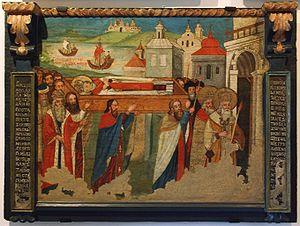 Saint Nicolas - an icon 17th cent., Historic M...
