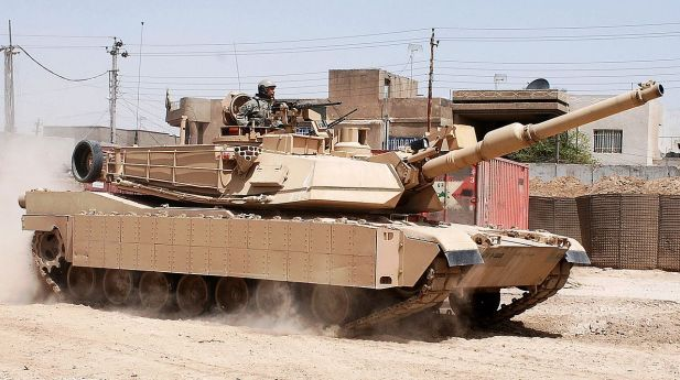 U.S. Army M1A2 Abrams with TUSK equipment