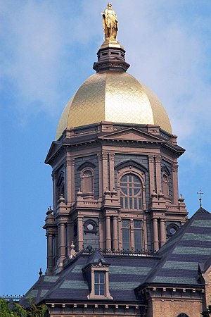 Golden roof of the University of Notre Dame