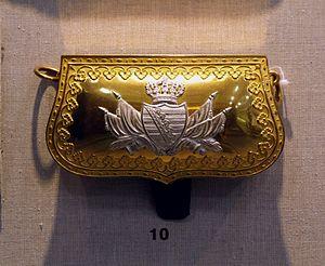 English: Old saxonian coat of arms - Militärhi...