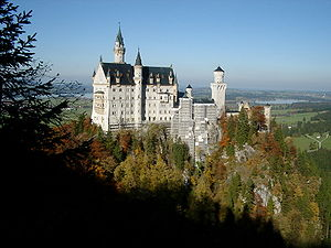 English: The Castle Neuschwanstein - Bavaria/G...