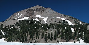 Lassen Peak as seen from Lake Helen, Lassen Vo...