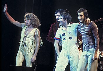 English: The Who, original line up, performing...