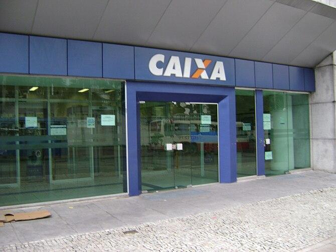 English: Agência da Caixa, em Belo Horizonte. ...