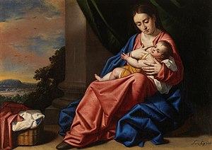 Español: Virgen con el niño Jesús, Museo del Prado