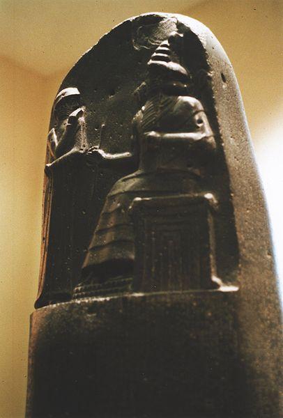 Stele del codice di Hammurabi al Louvre - retro