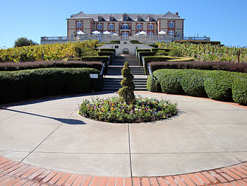 Domaine Carneros Winery entrance, Napa Valley,...