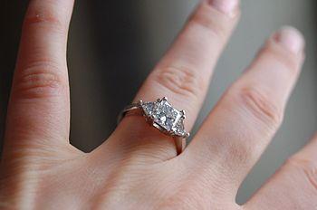 First engagement ring - 1.51ct princess cut di...