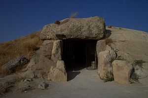 Dolmen of Menga, Antequera, Spain.
