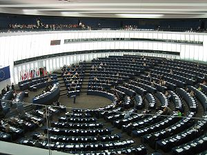 English: Hemicycle of the European Parliament ...
