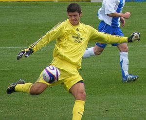 Fraser Forster playing Newcastle United