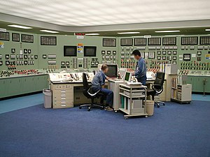 Reactor control room at Fukushima 1 nuclear po...
