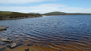 English: Quiet corner, Loch Scadabhagh At the ...