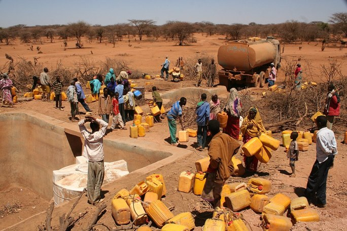 Water distribution in Horn of Africa