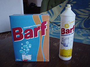 Barf brand laundry and dish soaps