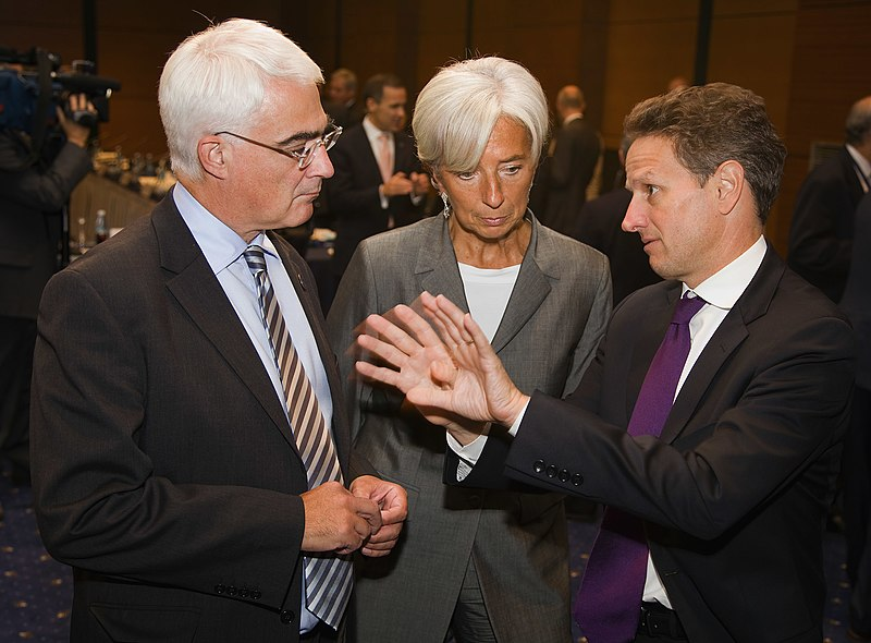 File:Darling, Lagarde, Geithner (IMF 2009).jpg