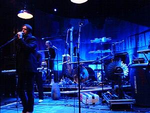 Einstürzende Neubauten performing at Berns