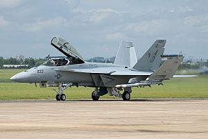 F/A-18F Super Hornet at Paris Air Show 2007