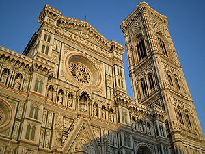 Front view of the Florence Cathedral