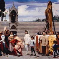 """Cimabue's Celebrated Madonna"" by Frederic Leighton"