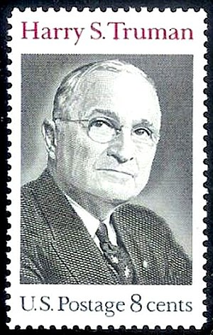 English: US Postage stamp: Harry. S. Truman, I...