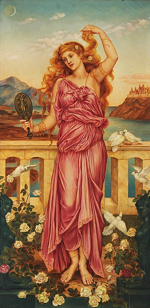Helen of Troy by Evelyn de Morgan (1898, Londo...