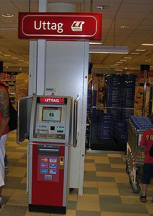 ICA:s uttagsautomat, Ringens köpcentrum, Stock...