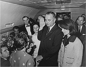 On Air Force One, 22 November 1963, Lyndon B. ...