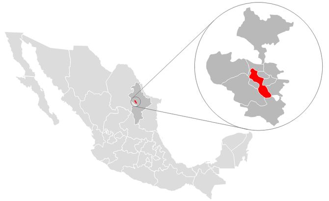 Location of Monterrey in northern Mexico