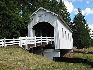 English: Ritner Creek Covered Bridge near Pede...