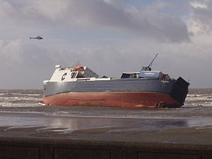 Riverdance run aground on Anchorsholme beach