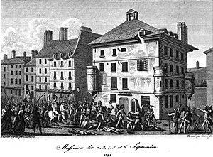 English: September Massacres during the French...