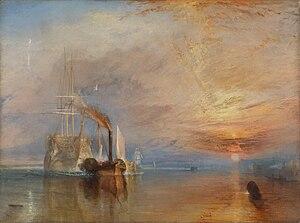 El temerario remolcado a dique seco, (1839).