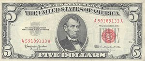 Series 1963 $5 United States Note. Urban legen...