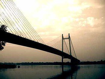 English: (2nd Hooghly Bridge), Kolkata, West B...