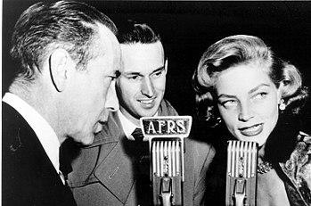 Bogart and Bacall interviewed during World War II