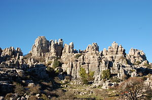 English: Karst formation in El Torcal in Anteq...