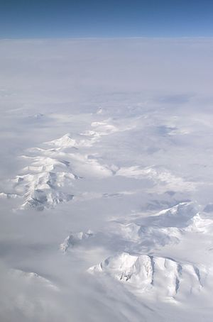 Larsen Ice Shelf photo taken fom a NASA DC-8
