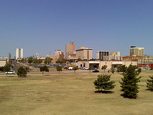 Landscape of the skyline of Lubbock, Texas tak...