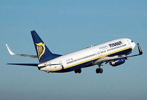 A Ryanair Boeing 737-800, named Nyköping, take...