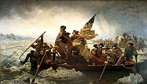 Emanuel Leutze's depiction of Washington's att...