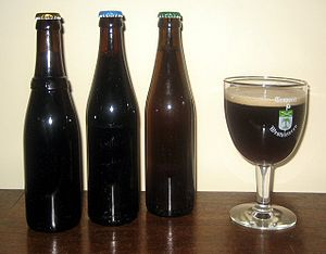 The Westvleteren beers. In the glass is the 12°