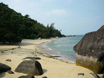 A Beach in the south of the malaysian Island T...