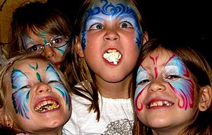 happy kids with their painted face