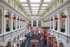 Melbourne old GPO postal hall converted to a s...