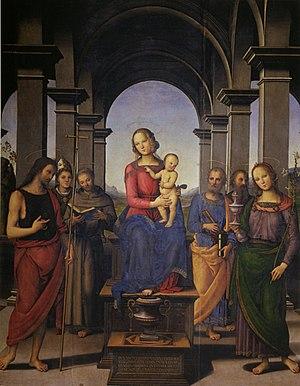 Pietro Perugino: Pala di Fano (Madonna in tron...